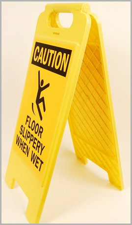 Plastic Wet Floor Signs